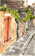 Bright Appearance Painting Prints - A Stroll Back in Time Print by Barbara Wirth