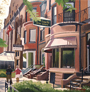Long Street Paintings - A Stroll Down Newbury St. by JJ Long