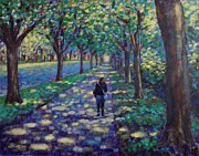Dublin Painting Originals - A Stroll On Griffith Avenue Dublin by John  Nolan