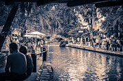 Riverwalk Photo Prints - A Stroll on the Riverwalk Print by David Morefield