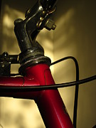Guy Ricketts Photography Photo Metal Prints - A Study in Scarlet Bicycle Metal Print by Guy Ricketts