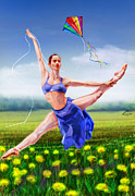 Ballet Dancer Posters - A Summer Breeze -Seasonal Winds Series 4 Of 4 Poster by Reggie Duffie