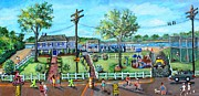 Tennis Painting Originals - A Summer Day in Great Harbors by Rita Brown