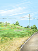 Landscape Digital Paintings - A summer day by Veronica Minozzi