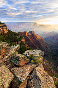 Vishnu Photos - A Summer Morning  on the Rim by Adam  Schallau