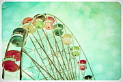 Amusement Rides Posters - A Summers Day Poster by Colleen Kammerer