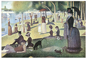Sunday Stroll Framed Prints - A Sunday Afternoon on the Island of La Grande Jatte Framed Print by George-Pierre Seurat