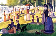 Sunday Picnic Prints - A Sunday Afternoon on the Island of La Grande Jatte Print by Seurat Georges