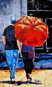 Umbrella Paintings - A Sunny Monet by Vickie Warner