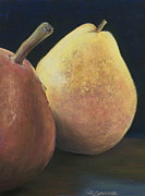 Food And Beverage Pastels Originals - A Sweet Pair by Sharon Lazarowicz