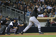 Petco Park Photo Posters - A Swing And A Miss Poster by Don Olea
