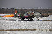 Jet Star Photos - A T-33 Shooting Star Trainer Jet by Timm Ziegenthaler
