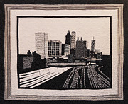 Skyline Tapestries - Textiles Framed Prints - A-t-l Framed Print by Aisha Lumumba
