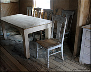Old Cabins Photos - A Table In Time by Lydia Warner Miller