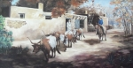 Posters On Paintings - A Taos Trail Ride by Wanda Dansereau
