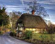 Storybook Prints - A thatched cottage at Wherwell in Hampshire Print by Neil Howard