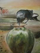 A Thirsty Crow Print by Prasenjit Dhar