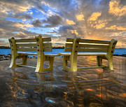 Benches Prints - A Time for Reflection Print by Debra and Dave Vanderlaan