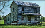 Abandoned Houses Digital Art Prints - A Time Long Ago Print by Victor Montgomery