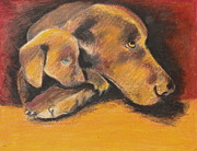 Retriever Pastels - A Time to Rest by Jeanne Fischer