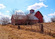 Red Barns Photos - A Timeless Journey by Tom Druin