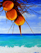 Bahamas Landscape Paintings - A Touch Of Gold by Victor Minca