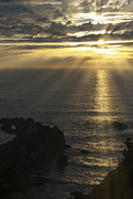 Crepuscular Rays Photos - A Touch of Heaven by Sandra Bronstein