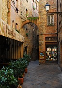 A Town In Tuscany Print by Mel Steinhauer