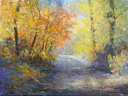Fall Pastels - A Tranquil Trail by Christine Bass