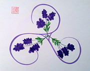 Triskele Posters - A Triskele of Lavender Poster by Margaret Welsh Willowsilk