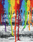 Drips Painting Originals - A Triumph of Color by Ric Bascobert