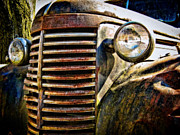 Rusted Cars Framed Prints - A Truck of a Different Color Framed Print by Colleen Kammerer