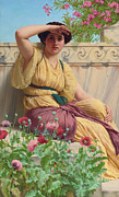 Neo-classical Framed Prints - A Tryst Framed Print by John William Godward