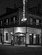 French Quarter Digital Art Framed Prints - A Tujaques Night paint bw Framed Print by Steve Harrington
