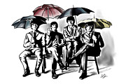 Beatles Digital Art Originals - A unique capture by Steven Kuc
