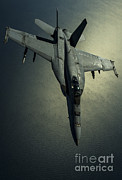 Mid-air Prints - A U.s. Navy Fa-18e Hornet Print by Stocktrek Images