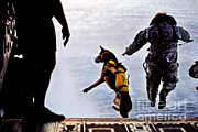 Working Dogs Prints - A U.s. Soldier And His Military Working Print by Stocktrek Images