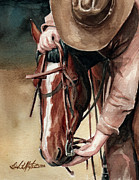 Mustang Paintings - A Useful Horse by Linda L Martin