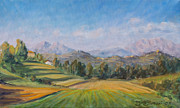 Mountain Valley Paintings - A valley in Brianza by Marco Busoni