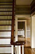 Wooden Stairs Prints - A View Down The Hall Print by Margie Hurwich