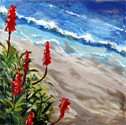 Heisler Park Paintings - A View From Above by Nancy Goldman