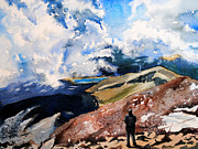 Spencer Meagher Art - A View From Above Pikes Peak by Spencer Meagher