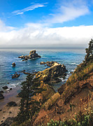 Seacape Framed Prints - A View From Ecola State Park Framed Print by Robert Bales