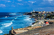 Puerto Rico Digital Art - A view from EL Morro by Rene Rosado