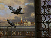 Sam Yeates Paintings - A View From The Doges Palace by Sam Yeates