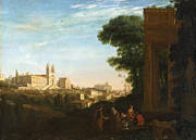 Famous Artists - A View in Rome by Claude Lorrain