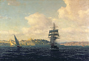 Marine Paintings - A View of Constantinople by Michael Zeno Diemer