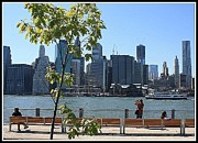 New York City Skyline Originals - A View of New York City Skyline by Dora Sofia Caputo