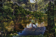 Nature Center Pond Prints - A View Of The Nature Center Merged Image Print by Thomas Woolworth