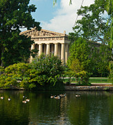 Nashville Tennessee Prints - A View of the Parthenon 17 Print by Douglas Barnett